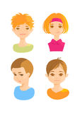 Faces of cute kids Stock Images