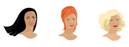 Faces da menina ilustração royalty free