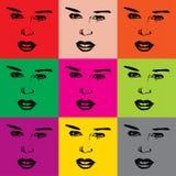 Faces da mulher do vetor ilustração royalty free