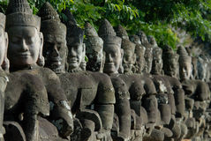Faces de Bayon Imagem de Stock Royalty Free