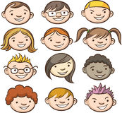 Faces de sorriso dos miúdos Fotos de Stock Royalty Free