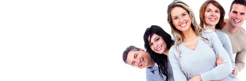 Faces de sorriso dos povos Imagens de Stock Royalty Free