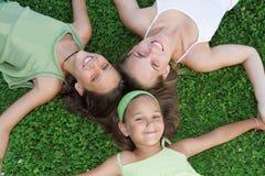 Faces de sorriso felizes Fotos de Stock