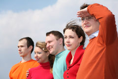Faces do grupo dos povos Imagens de Stock Royalty Free