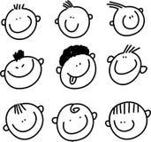 Faces do sorriso Imagem de Stock