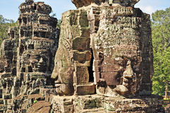 Faces do templo de Bayon Imagem de Stock Royalty Free