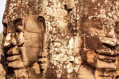 Faces do templo de Bayon, Cambodia Imagem de Stock