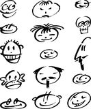 Faces doodle Royalty Free Stock Image