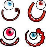 Faces dos desenhos animados Imagem de Stock