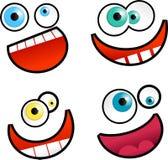 Faces dos desenhos animados Fotos de Stock Royalty Free