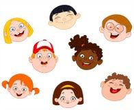 Faces dos miúdos Fotografia de Stock