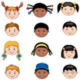 Faces dos miúdos ilustração do vetor