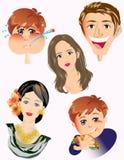Faces dos povos Foto de Stock Royalty Free