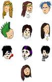 Faces dos povos Fotos de Stock Royalty Free