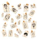 Faces e caráteres ilustração do vetor