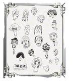 Faces e caráteres ilustração stock