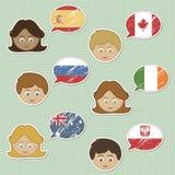 Faces e etiquetas da bandeira Fotos de Stock