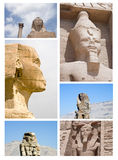 Faces of Egypt. Collage of Faces of Egypt royalty free stock images