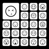 Faces emoticon icons set Royalty Free Stock Images