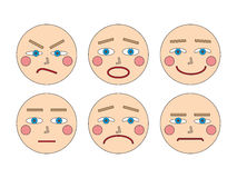 Faces and emotions Stock Image