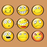 Faces with emotions. vector. Royalty Free Stock Photo