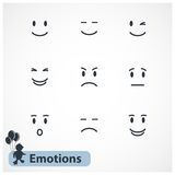 Faces emotions Royalty Free Stock Images