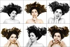 Faces engraçadas Fotos de Stock Royalty Free
