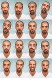 Faces engraçadas Imagem de Stock Royalty Free