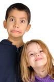 Faces engraçadas Fotografia de Stock Royalty Free