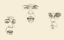 Faces expressivos ilustração do vetor
