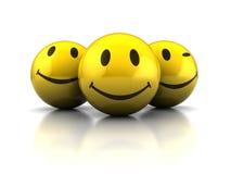 Faces felizes ilustração royalty free