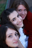 Faces felizes fotografia de stock royalty free