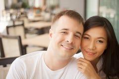 Faces felizes dos amantes Imagens de Stock Royalty Free
