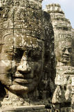 Faces of gods. Stone faces of Bayon (Angkor, Cambodia Stock Image