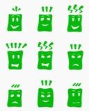 Faces_green ilustração do vetor