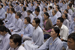 Buddhist group prayer  Royalty Free Stock Photos