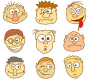 Faces icons. Part 1 - male avatars royalty free illustration