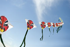 Faces on Kites Royalty Free Stock Photos