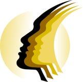 Faces logo Royalty Free Stock Photo