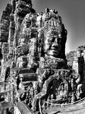 Faces of Lokesvara in Bayon Stock Image