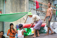 Faces of Myanmar Stock Photo