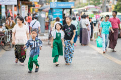 Faces of Myanmar Stock Images