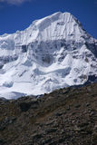 Faces íngremes da neve na montanha de Andes Foto de Stock Royalty Free