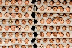 Faces On The Eggs Royalty Free Stock Image