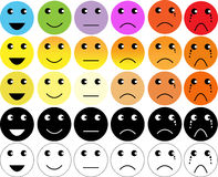 Faces pain rating scale. And assessment tool Royalty Free Stock Image