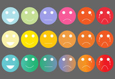 Faces pain rating scale Royalty Free Stock Photos
