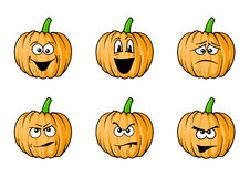 Faces pumpkins Royalty Free Stock Image