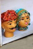 Faces of Rajasthani Couple Royalty Free Stock Photo