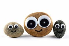 Faces on rocks Royalty Free Stock Images