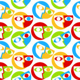 Faces Seamless pattern background Stock Photography